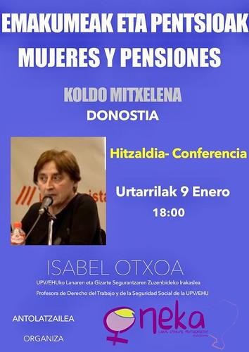 Charla sobre mujeres y pensiones