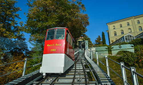 Marzili Funicular (cable car) in Bern, Switzerland