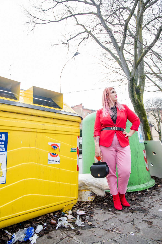 Outfit curvy e plus size, rosso e rosa per San Valentino (3)