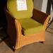 Cane frame arm chair with cushions E40