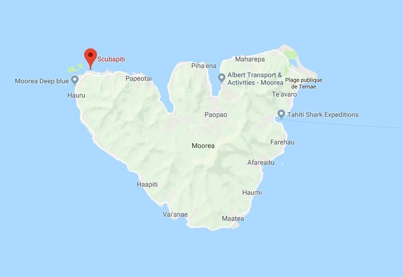 Mapa Les Tipaniers Moorea 2