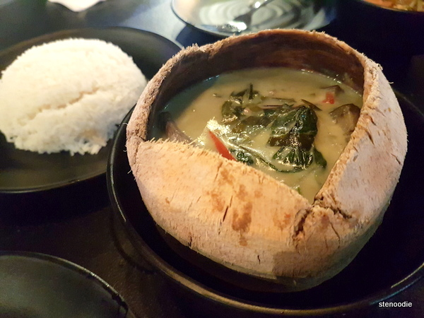 green curry with rice and beef