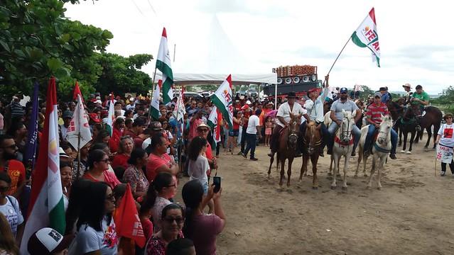 La manifestación comenzó con carruaje hacia la ciudad - Créditos: Rani de Mendonça