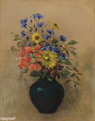 Wildflowers by Odilon Redon