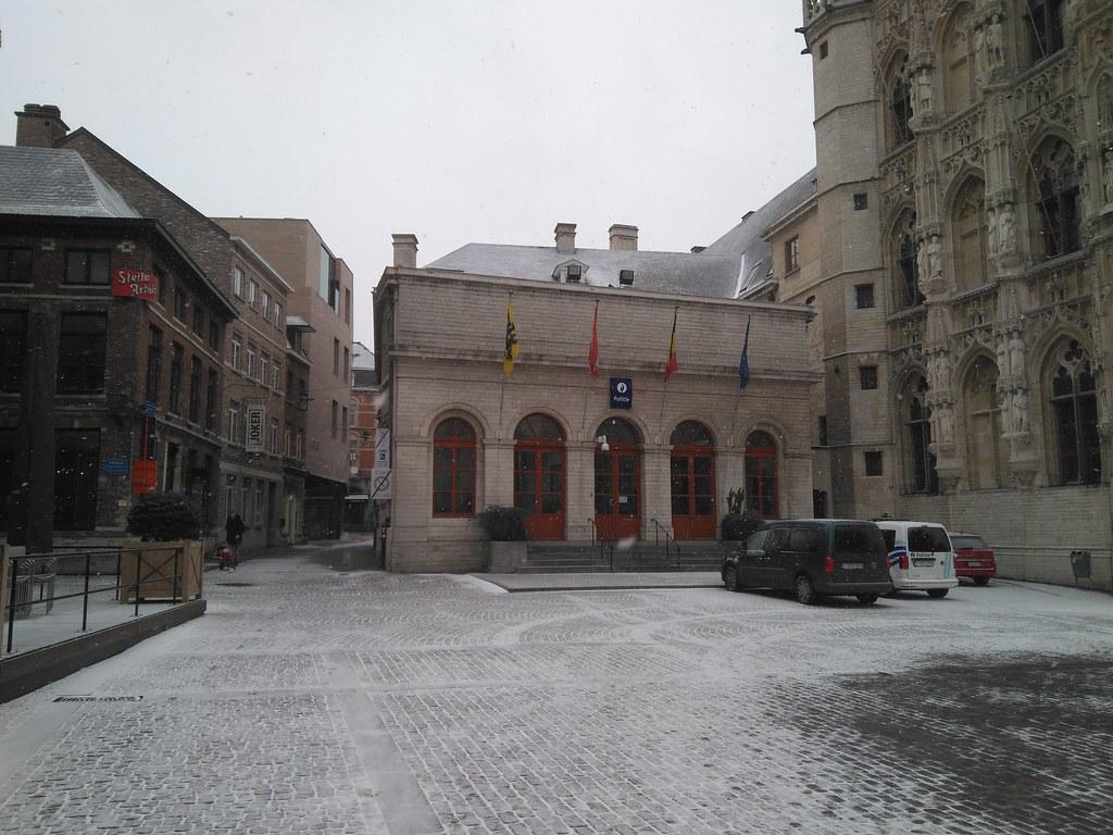 Nieve en Lovaina - enero 2019