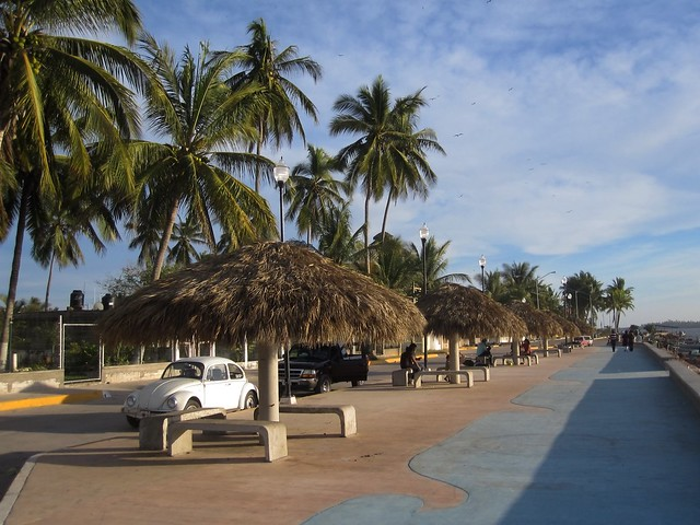 Malecón en Bahía de Teacapán, Escuinapa, Sinaloa, México