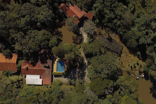 Aerial view of the property in Atibaia, São Paulo, owned by the Bittar family - Créditos: Handout