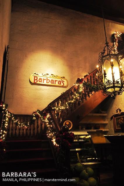 Barbara's Restaurant in Intramuros
