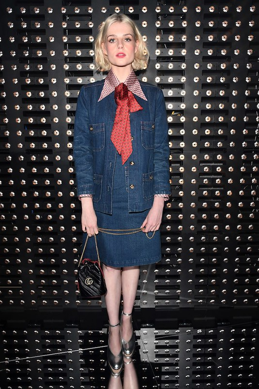 Lucy Boynton<br>for Gucci