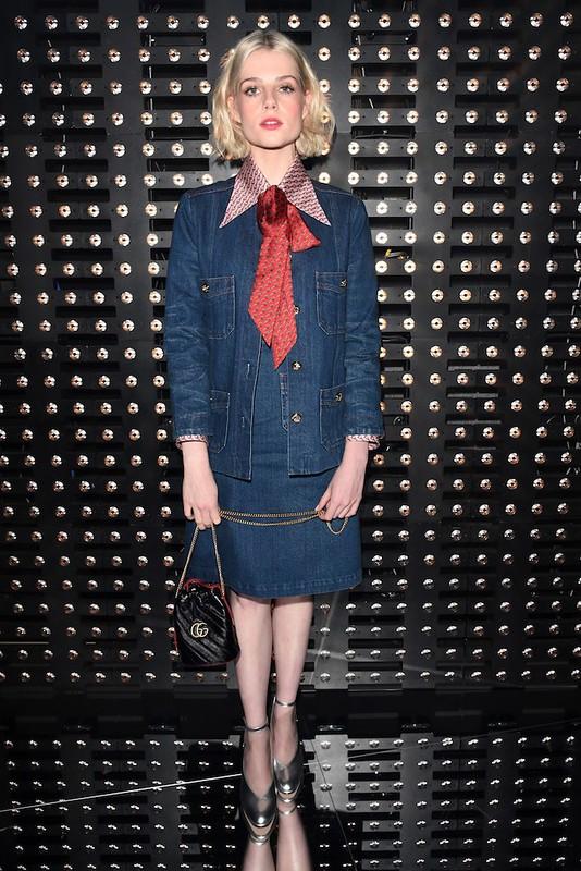 Lucy Boynton<br>for Gucci