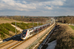 02 janvier 2019 TGV D 860-859 Train 8535 Paris -> Hendaye Marsas (33)
