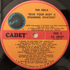 THE DELLS:GIVE YOUR BABY A STANDING OVATION(LABEL SIDE-B)