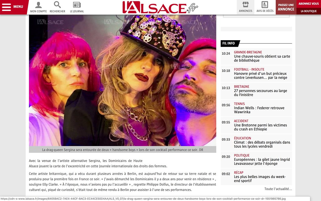 #Sergina in the L'Alsace newspaper
