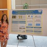 Sarah Alfieri with poster
