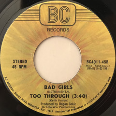 TOO THROUGH:BAD GIRLS(LABEL SIDE-B)