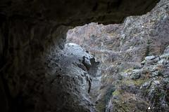 gorges de la Carança, certains passages sont inférieurs à 1 mètre de largeur !