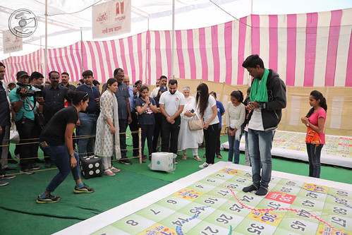 Blessings by Satguru Mata Ji at the pavilion of game