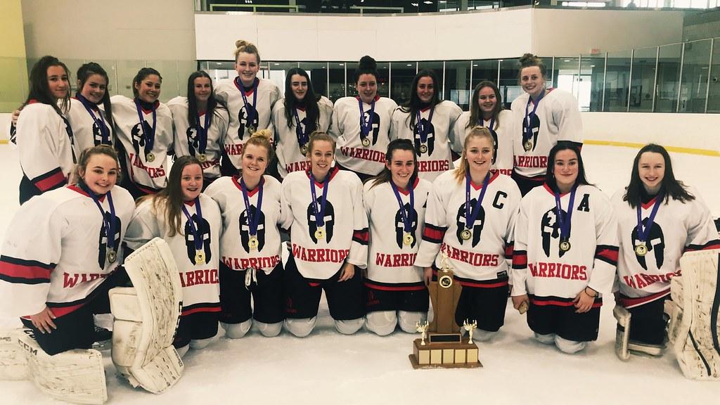 2018-19 HWIAC Girls Hockey Champions: Waterdown Warriors