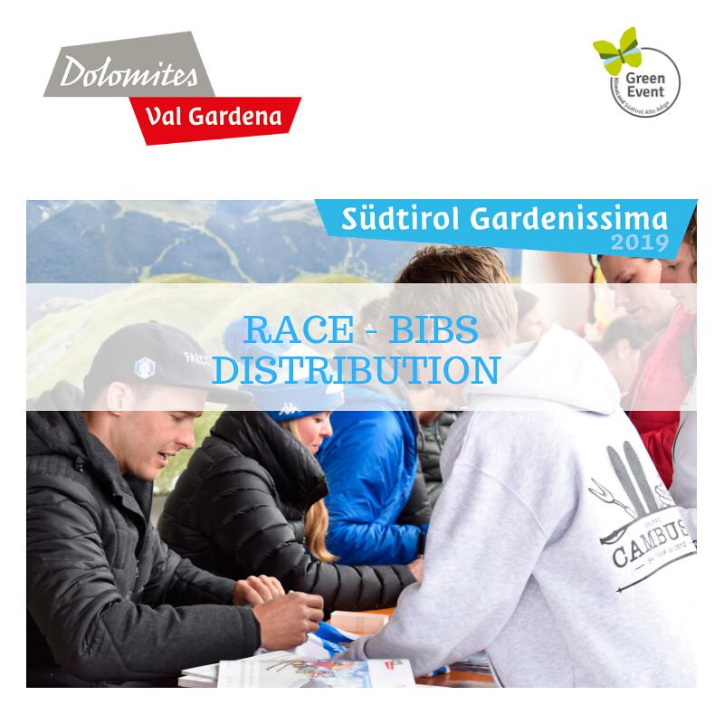 RACE-BIBS DISTRIBUTION Südtirol Gardenissima 2019