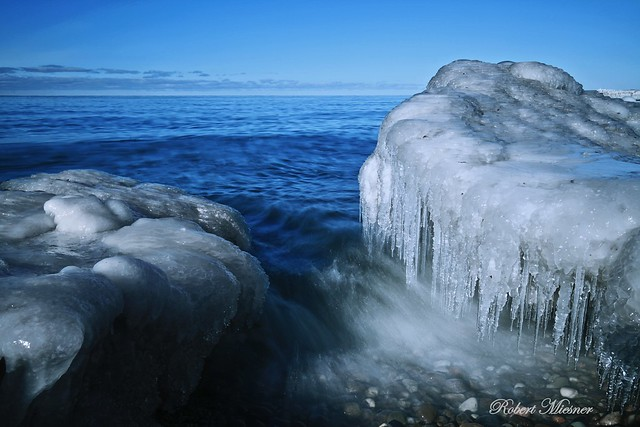 Lake Ontario in January (Selkirk Shores State Park)