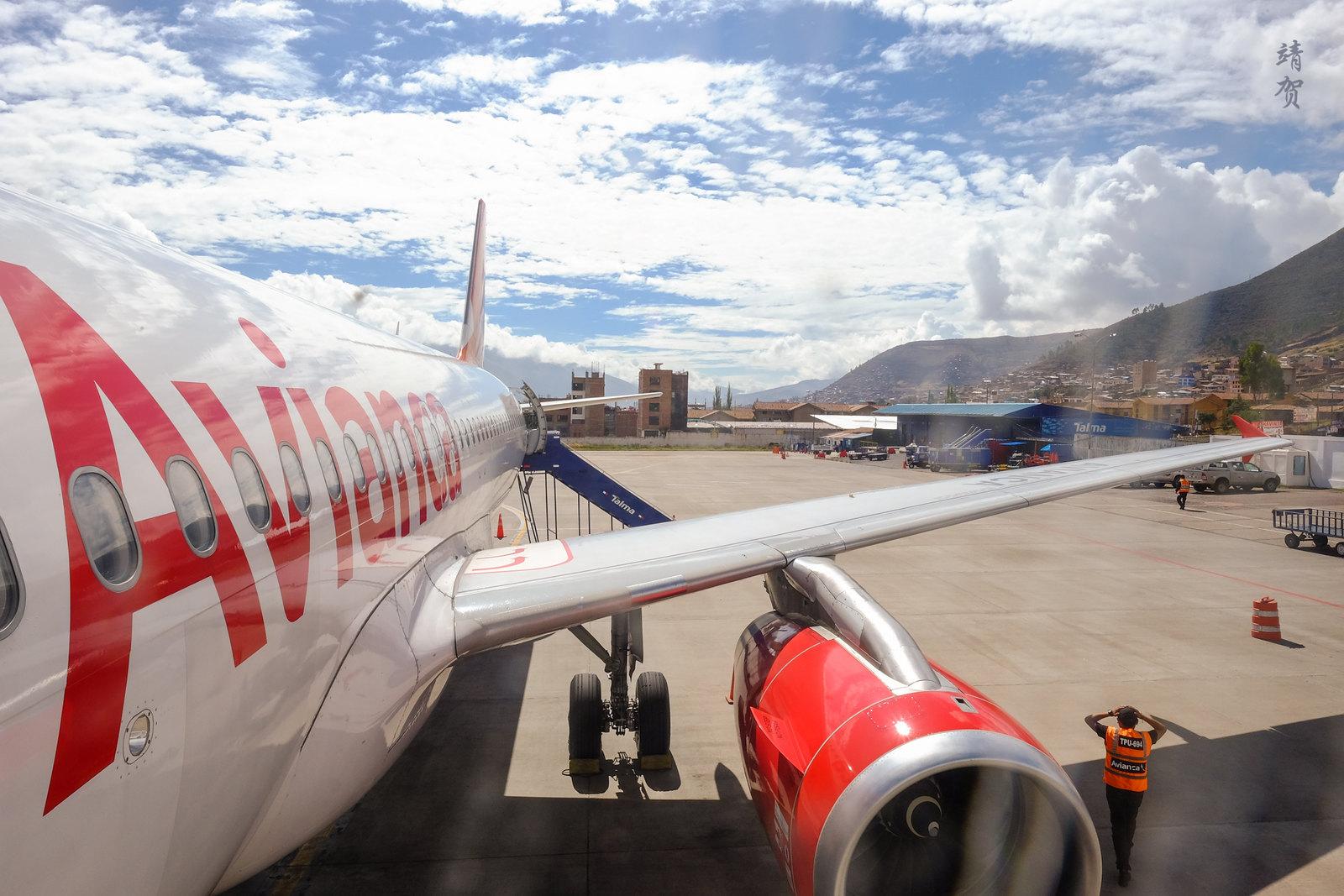 Boarding Avianca's A320