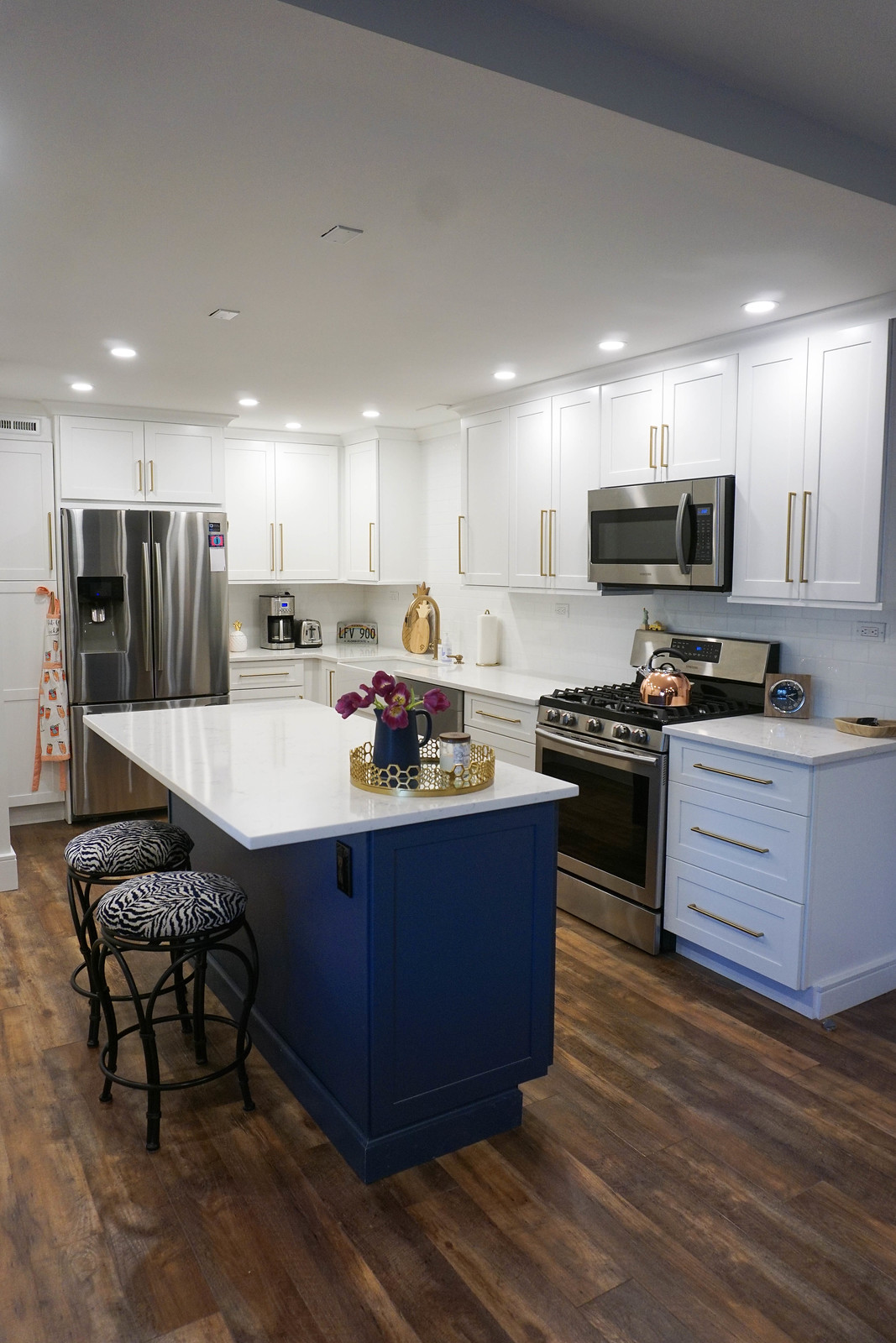 Apartment Kitchen Fabuwood Allure Galaxy Frost Cabinets Wolf Home Products Indigo Kitchen Island Cabinets