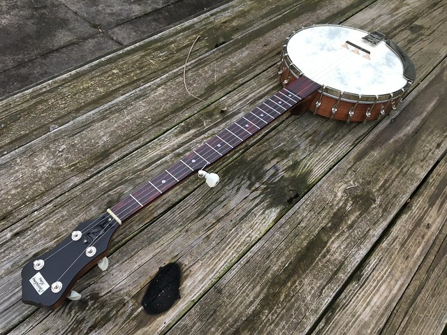 This Recording King RK-OT25-BR Madison open backed banjo followed me home earlier this week.