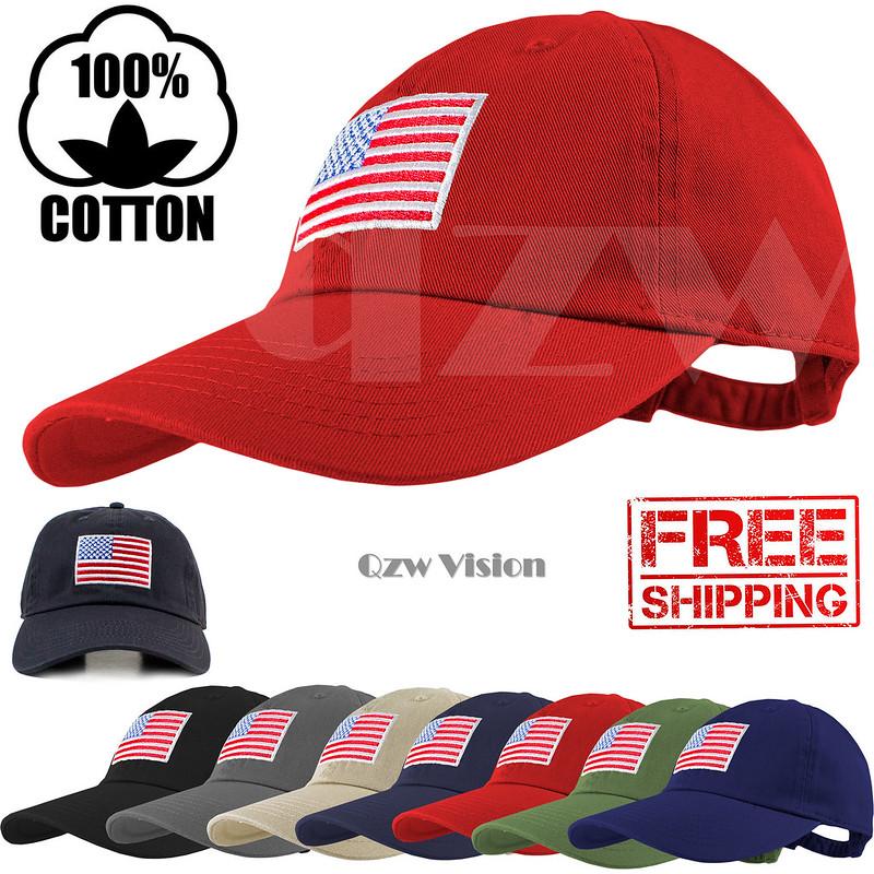 5773bbfef25 USA American Flag Tactical Operator Baseball Style Cap Hat Military  Adjustable