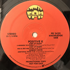 POSITIVE K:STEP UP FRONT(LABEL SIDE-B)