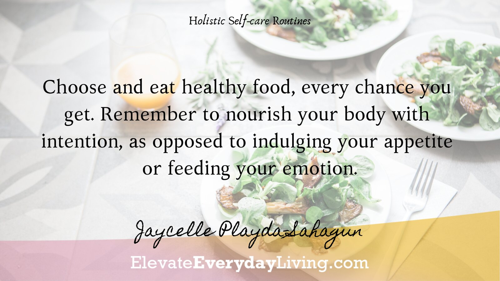 Choose and eat healthy food