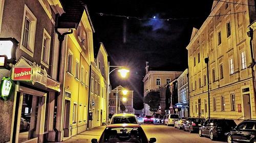 EFERDING - STARHEMBERGPLATZ im Mondlicht - 2