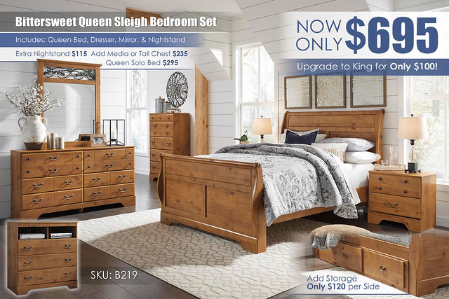 Bittersweet Sleigh Bedroom Set_B219_new