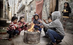 Winter atmosphere from a refugee camp in Gaza City