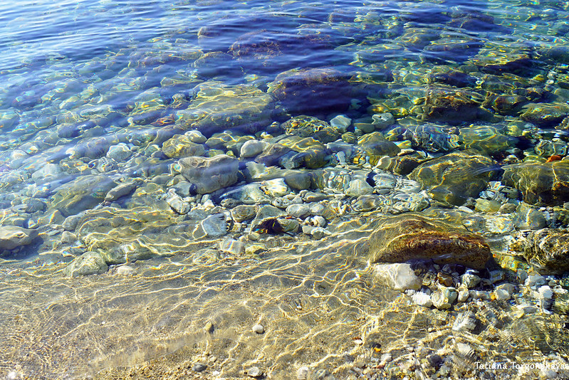 Дно через морскую воду