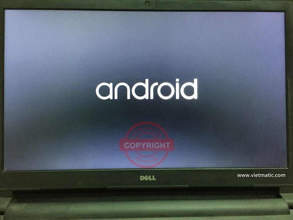 Màn hình khởi động Android trên laptop DELL