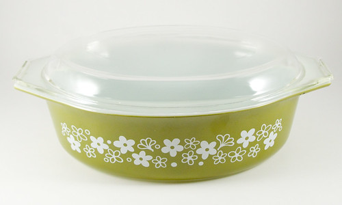 1972-1978 Pyrex Spring Blossom Green Casserole | by owntwohands