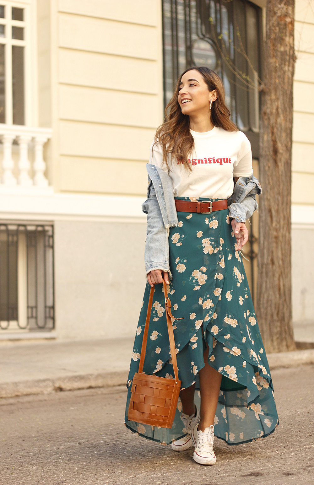 floral maxi converse skirt tshirt find amazon fashion street style outfit 20195