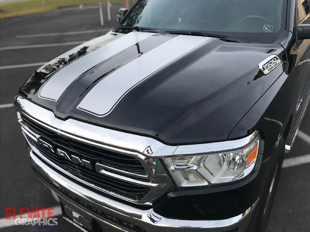 Fits Dodge Ram 1500 Rally Stripes Graphics Hood Tailgate