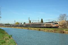 BB 22343 SNCF + Intercités 4659, Pompignan, Sunday 3 March 2019