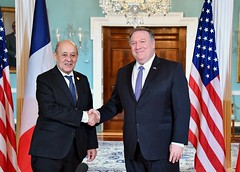 Secretary Pompeo Meets With French Foreign Minister Le Drian