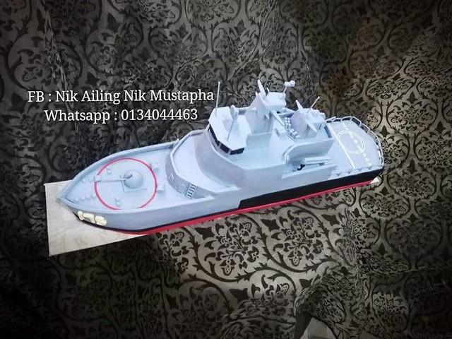 Royal Malaysian Navy, KD Kelantan by Nik Ailing Nik Mustapha of Kedai Cuppies Lumut