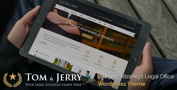 Tom & Jerry v1.1.1 - A WordPress Law and Business Theme
