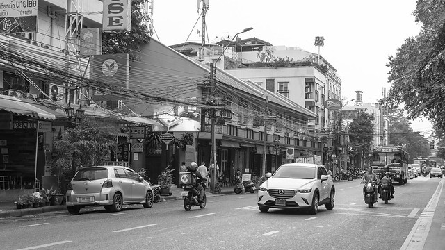 Along the Phra Athit Road at Bangkok
