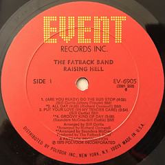 THE FATBACK BAND:RAISING HELL(LABEL SIDE-A)