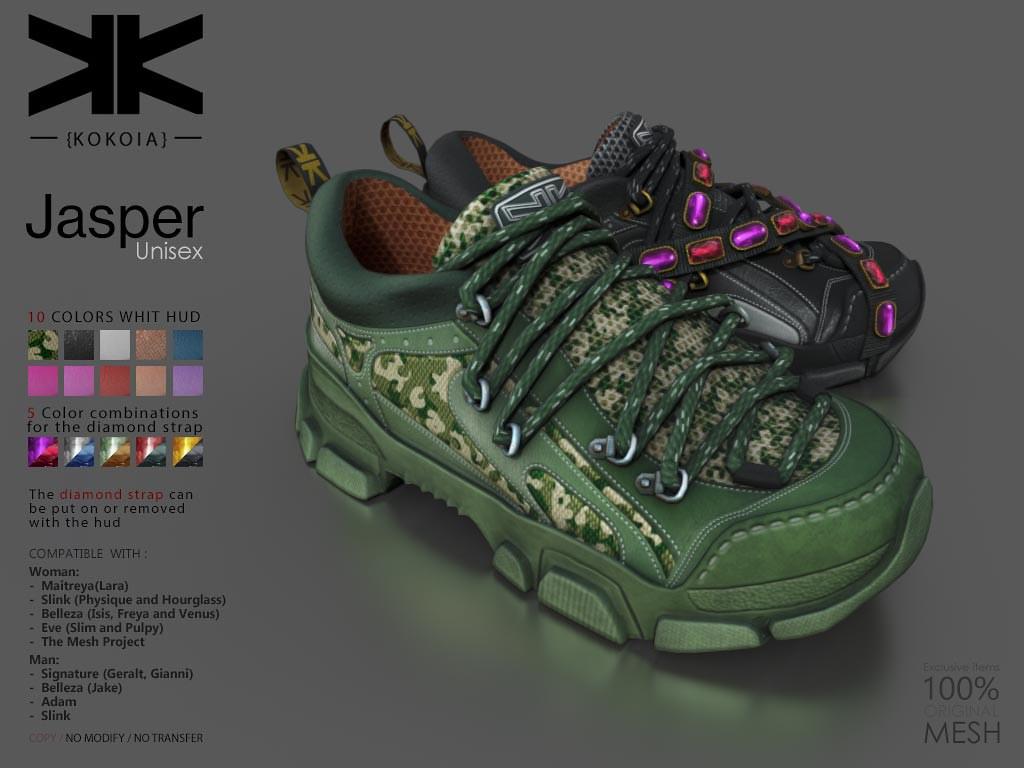 Jasper :: Unisex Shoes :: 10 Colors | Purchase | Shop in Sec