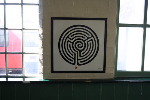 London Underground Labyrinth 213 Mill Hill East close up