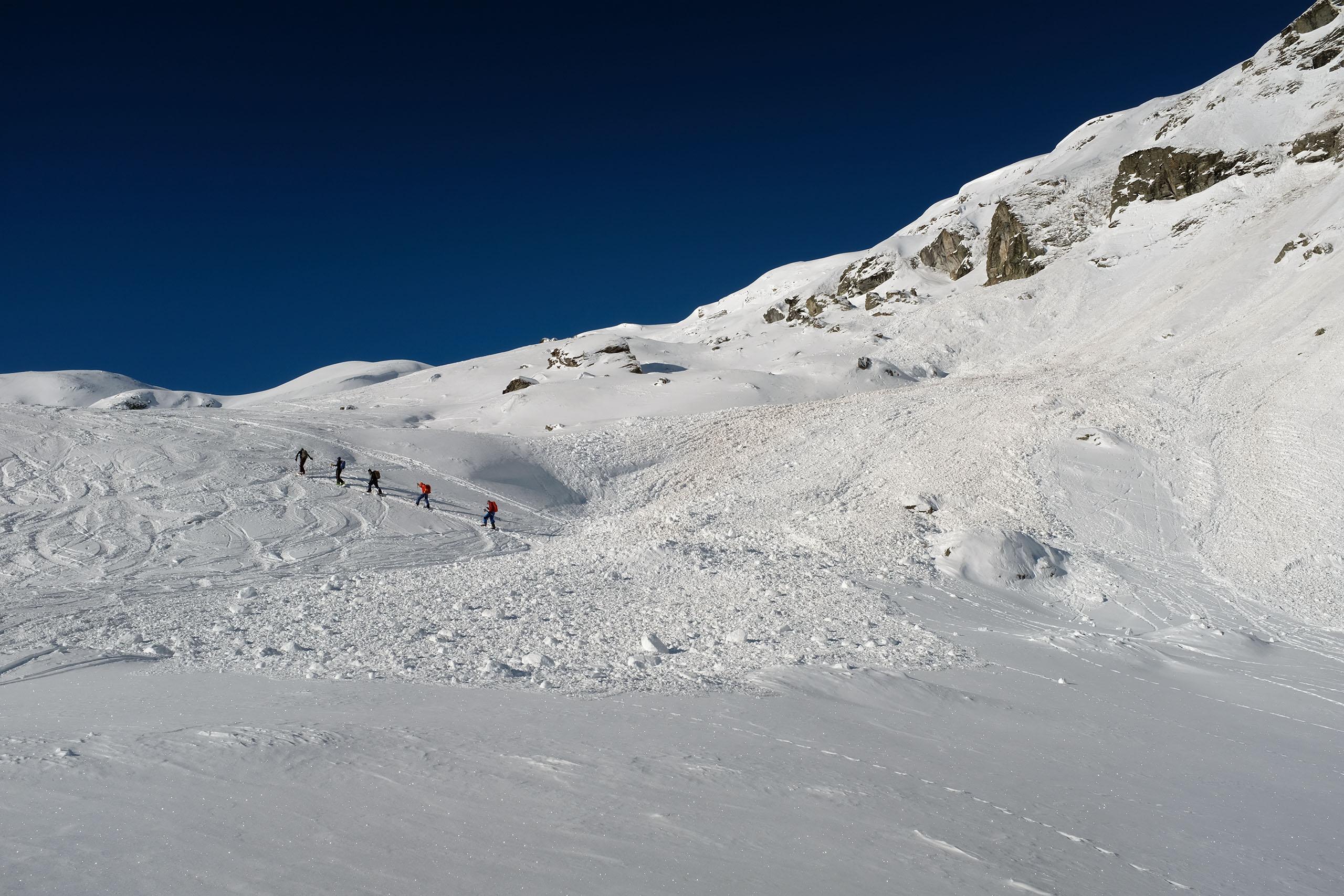 Scialpinismo al Piz Scalotta: valanga scesa dal Crap da Radons