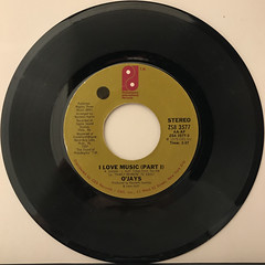 O'JAYS:I LOVE MUSIC(RECORD SIDE-A)