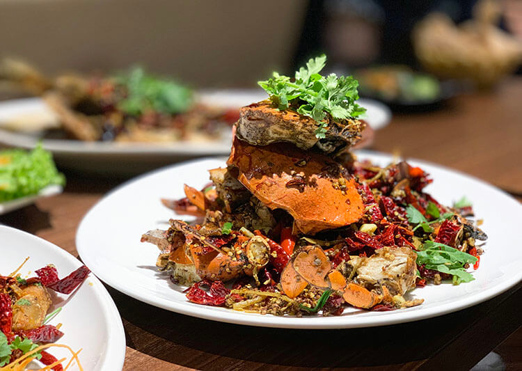 Sichuan Mala Fried Crab