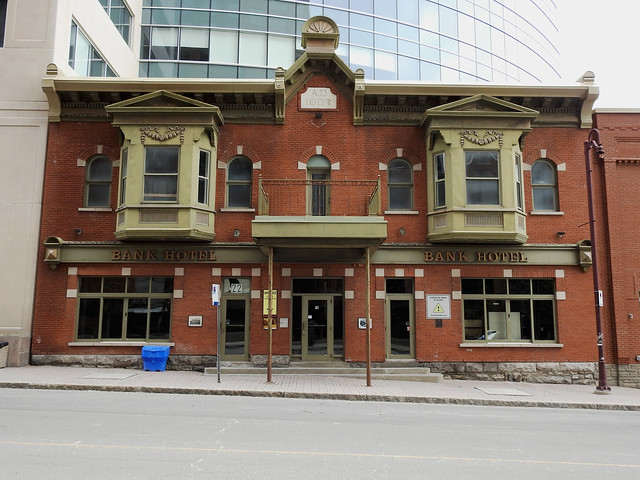 The former Bank Hotel (1907-1908) in Hull (Gatineau), Quebec